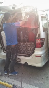 It took four people about 15 minutes to get the bags packed into the van. And the passengers still ended up holding half their stuff.