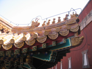 Architectural detail at the Summer Palace. This is on the back side of the Hall of Buddhist Tenets.