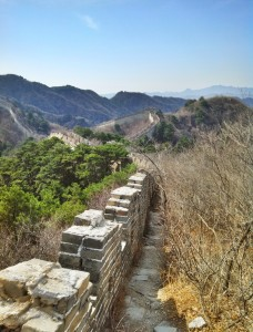 Mutianyu features both restored and unrestored portion of the Great Wall. The unrestored portions are obvious once you see them. The wall is crumbling and overgrown, but still passable if you don't mind a hike.